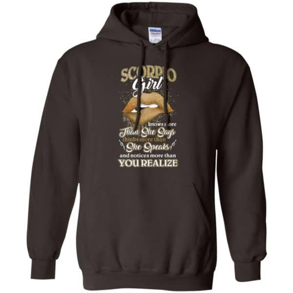 Scorpius Girl Knows More Than She Says Zodiac Birthday T-Shirts, Hoodie, Tank Apparel