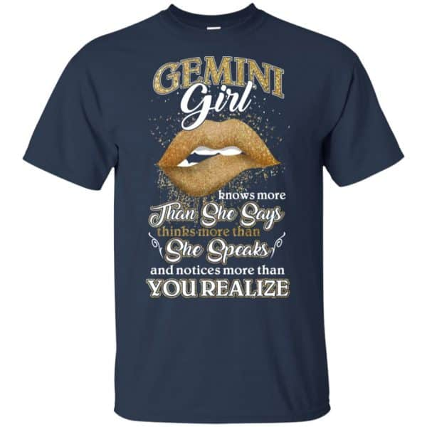 Gemini Girl Knows More Than She Says Zodiac Birthday T-Shirts, Hoodie, Tank Apparel