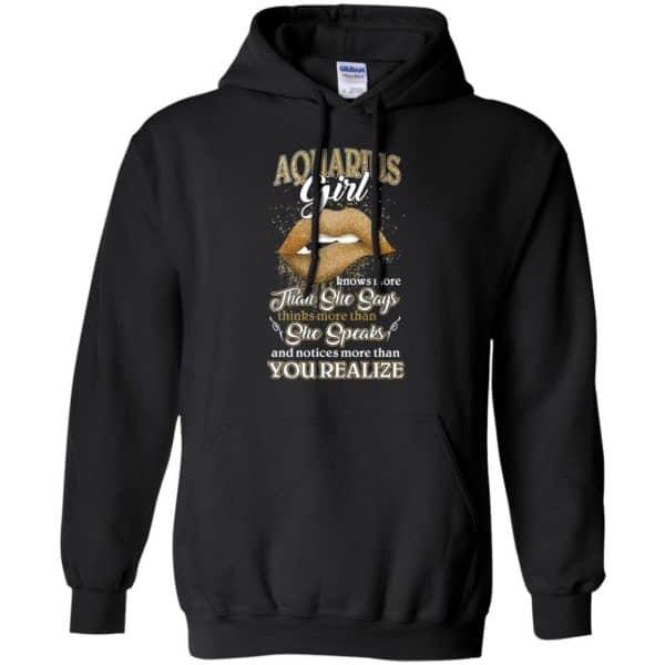 Aquarius Girl Knows More Than She Says Zodiac Birthday T-Shirts, Hoodie, Tank Apparel 7