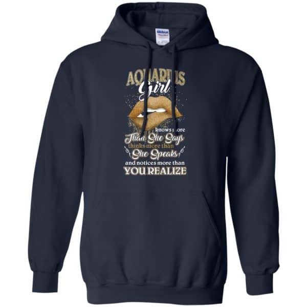 Aquarius Girl Knows More Than She Says Zodiac Birthday T-Shirts, Hoodie, Tank Apparel 8
