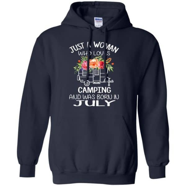 Just A Woman Who Loves Camping And Was Born In July T-Shirts, Hoodie, Tank Apparel