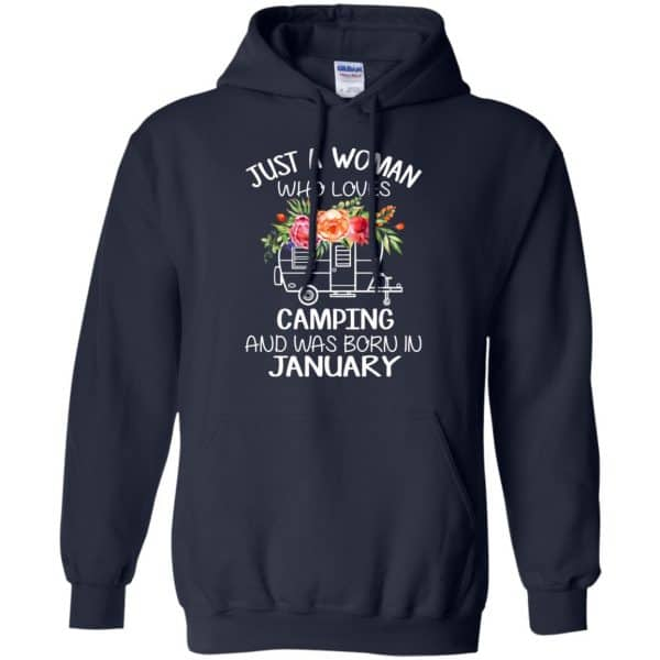 Just A Woman Who Loves Camping And Was Born In January T-Shirts, Hoodie, Tank Apparel