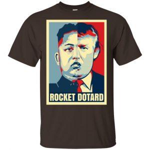 Rocket Dotard Kim Jong-un Donald Trump Shirt, Hoodie, Tank Apparel 2