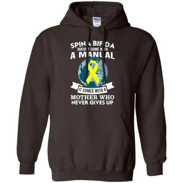 Spina Bifida Doesn't Come With A Manual It Comes With A Mother WHO Never Gives Up Shirt, Hoodie, Tank Apparel
