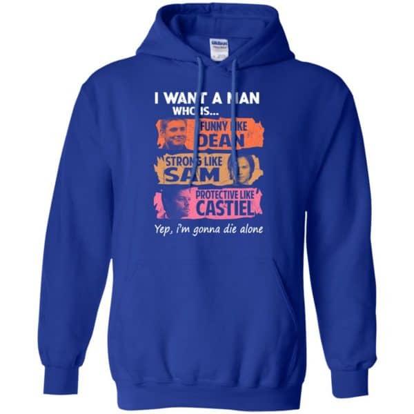 I Want A Man Who Is Funny Like Dean Strong Like Sam Protective Like Castiel Shirt, Hoodie, Tank Apparel 10