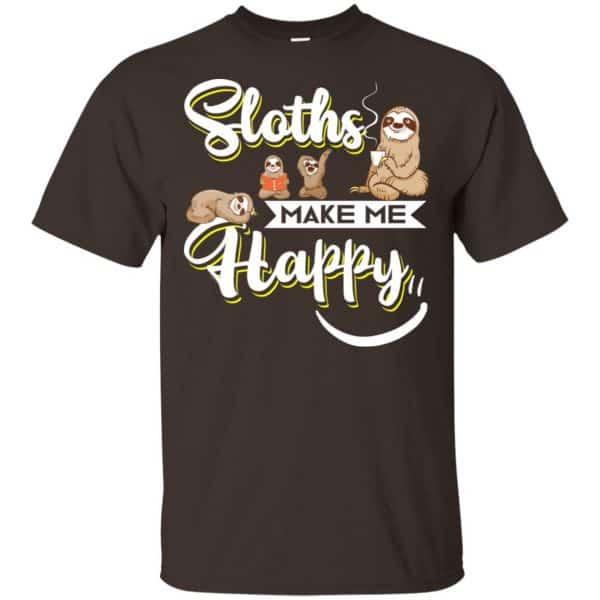 Sloths Make Me Happy Shirt, Hoodie, Tank Apparel 4