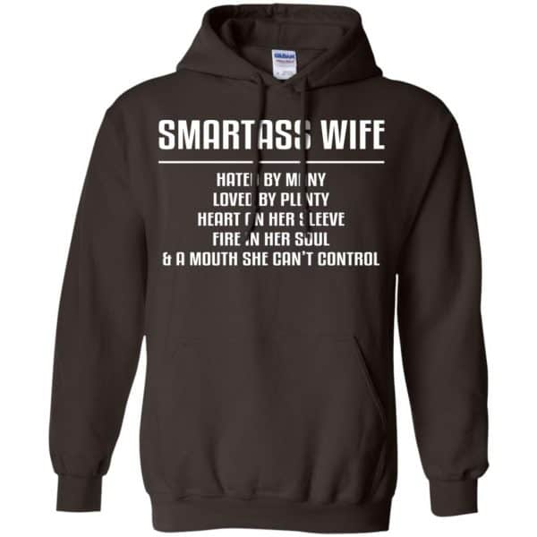 Smartass Wife Hated By Many Loved By Plenty Heart On Her Sleeve Fire In Her Soul & A Mouth She Can't Control Shirt, Hoodie, Tank Apparel 9