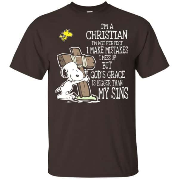 Snoopy: I'm Christian I'm Not Perfect I Make Mistakes I Mess Up But God's Grace Is Bigger Than My Sins Shirt, Hoodie, Tank Apparel 4