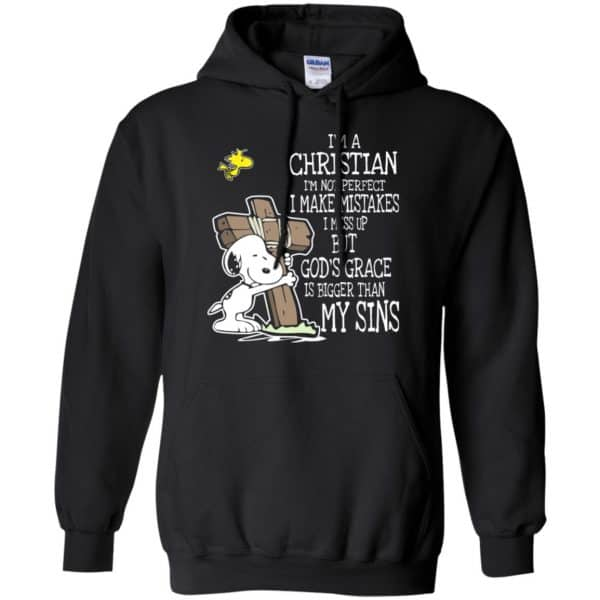 Snoopy: I'm Christian I'm Not Perfect I Make Mistakes I Mess Up But God's Grace Is Bigger Than My Sins Shirt, Hoodie, Tank Apparel 7