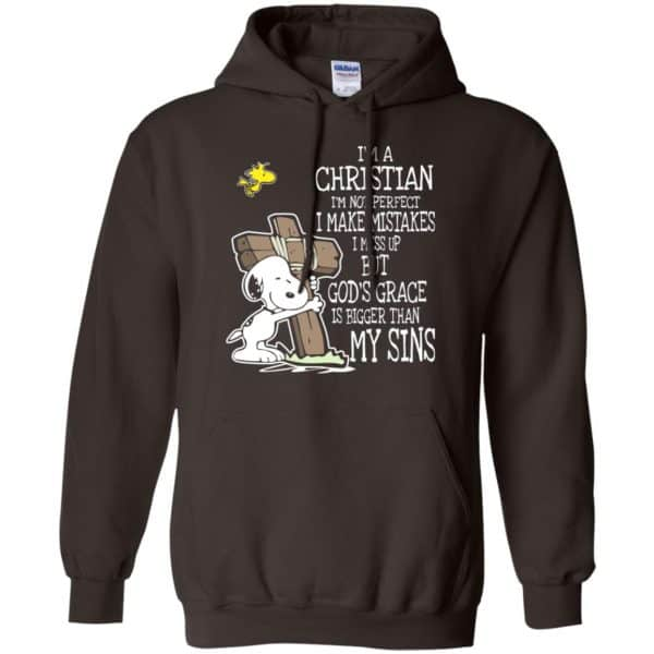 Snoopy: I'm Christian I'm Not Perfect I Make Mistakes I Mess Up But God's Grace Is Bigger Than My Sins Shirt, Hoodie, Tank Apparel 9