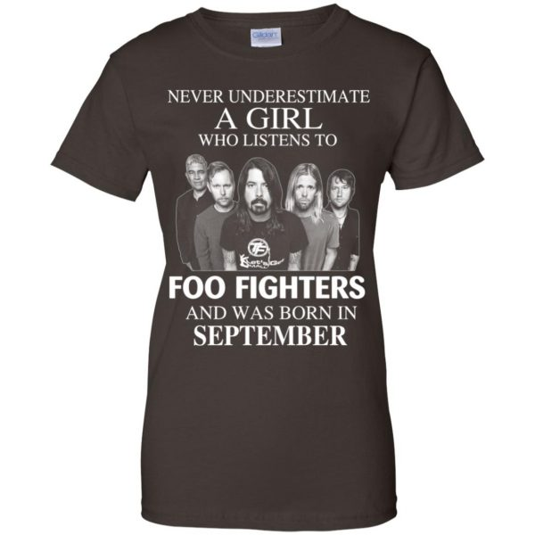 A Girl Who Listens To Foo Fighters And Was Born In September T-Shirts, Hoodie, Tank Apparel