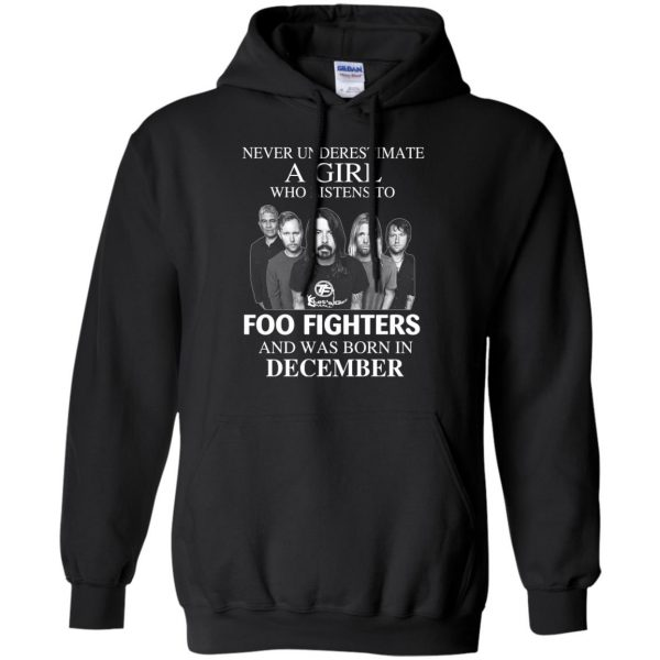 A Girl Who Listens To Foo Fighters And Was Born In December T-Shirts, Hoodie, Tank