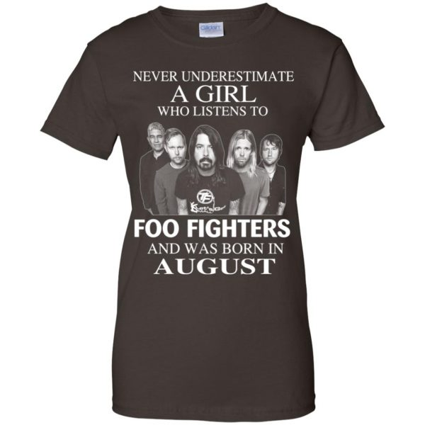 A Girl Who Listens To Foo Fighters And Was Born In August T-Shirts, Hoodie, Tank