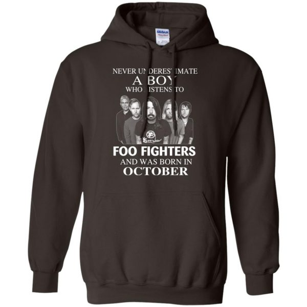 A Boy Who Listens To Foo Fighters And Was Born In October T-Shirts, Hoodie, Tank