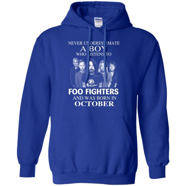 A Boy Who Listens To Foo Fighters And Was Born In October T-Shirts, Hoodie, Tank Apparel 12