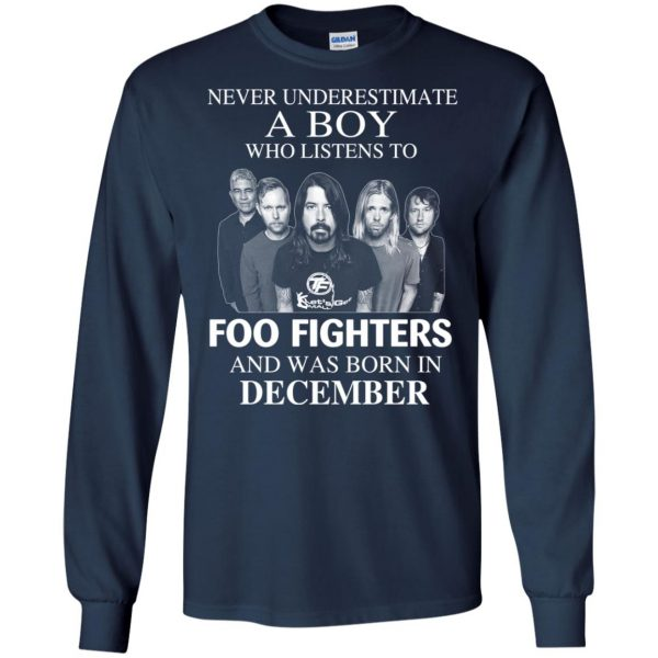 A Boy Who Listens To Foo Fighters And Was Born In December T-Shirts, Hoodie, Tank