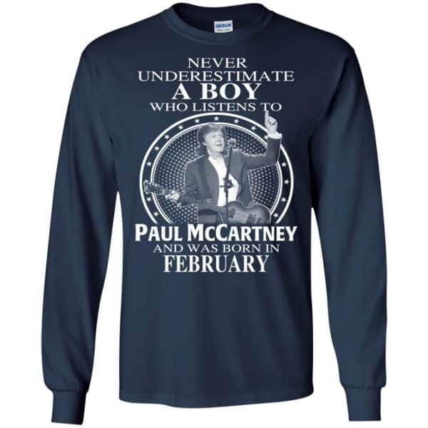 A Boy Who Listens To Paul McCartney And Was Born In February T-Shirts, Hoodie, Tank