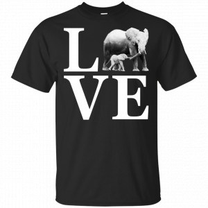 I Love Elephants Vintage Look Elephant Shirt, Hoodie, Tank Apparel