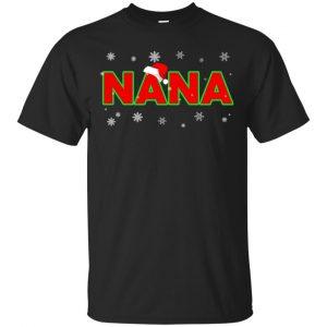 Nana Christmas Santa Ugly Sweater, T-Shirts, Hoodie Apparel