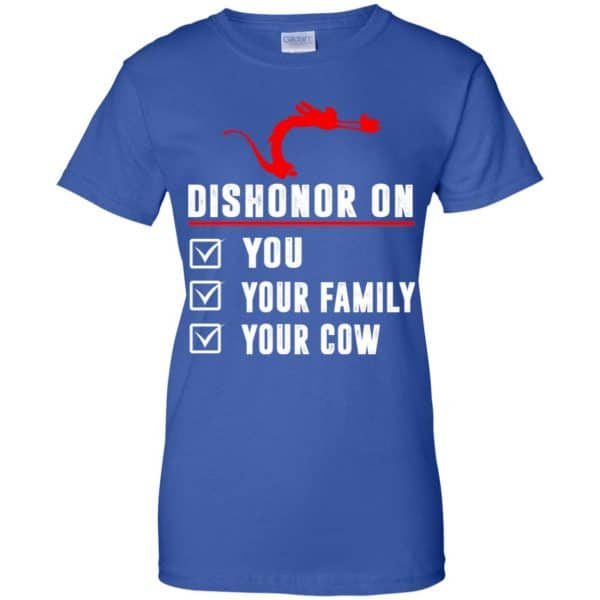 Dishonor On Your Family You Your Cow Mulan Mushu Shirt, Hoodie, Tank