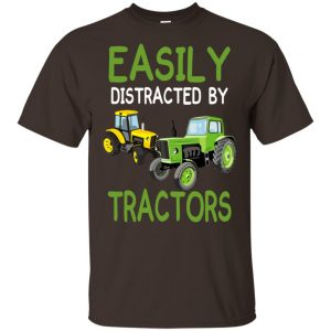 Easily Distracted By Tractors T-Shirts, Hoodie, Tank