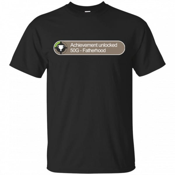 Achievement Unlocked 50G Fatherhood Shirt, Hoodie, Tank Father's Day