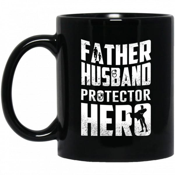 Father Husband Protector Hero Mug