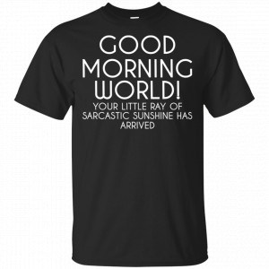Good Morning World Your Little Ray Of Sarcastic Sunshine Has Arrived Shirt, Hoodie, Tank