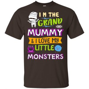 I'm The Grand Mummy & I Love My Little Monsters Shirt, Hoodie, Tank Apparel 2