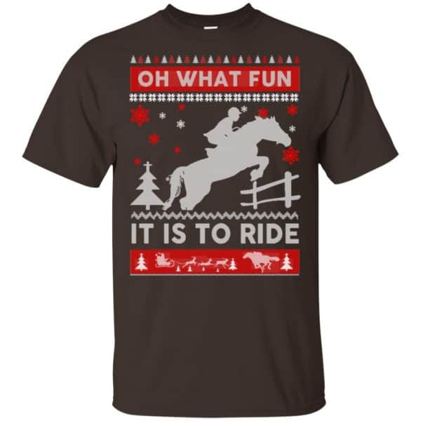 Horse Sweater Christmas Oh What Fun It Is To Ride T-Shirts, Hoodie, Sweater Apparel 4