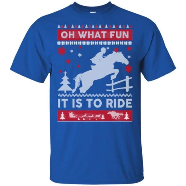 Horse Sweater Christmas Oh What Fun It Is To Ride T-Shirts, Hoodie, Sweater Apparel 5