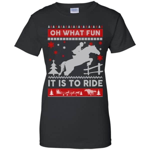 Horse Sweater Christmas Oh What Fun It Is To Ride T-Shirts, Hoodie, Sweater Apparel 11