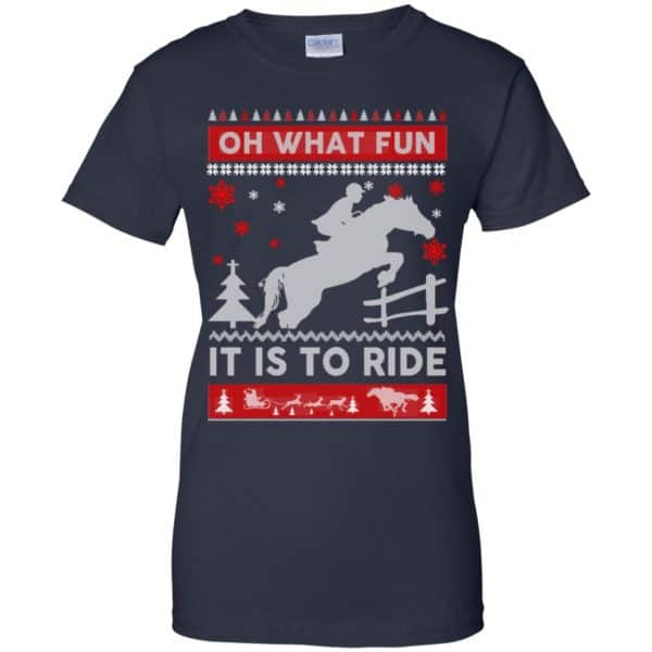 Horse Sweater Christmas Oh What Fun It Is To Ride T-Shirts, Hoodie, Sweater Apparel 13