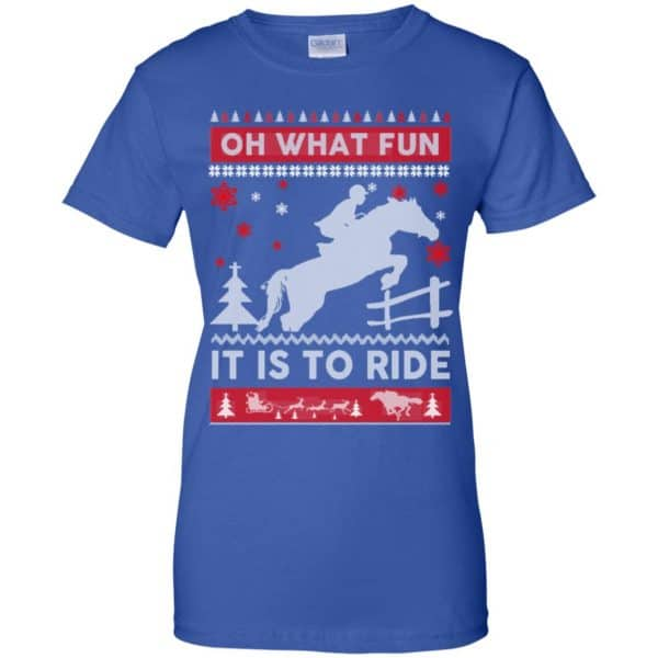 Horse Sweater Christmas Oh What Fun It Is To Ride T-Shirts, Hoodie, Sweater Apparel 14