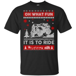 Jeep Sweater Christmas Oh What Fun It Is To Ride T-Shirts, Hoodie, Sweater Apparel