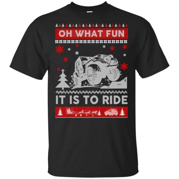Jeep Sweater Christmas Oh What Fun It Is To Ride T-Shirts, Hoodie, Sweater Apparel 3