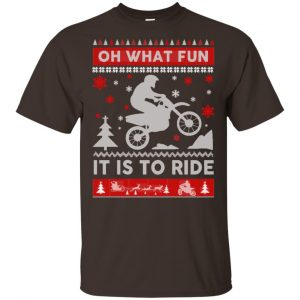 Motocross Sweater Christmas Oh What Fun It Is To Ride T-Shirts, Hoodie, Sweater Apparel 2