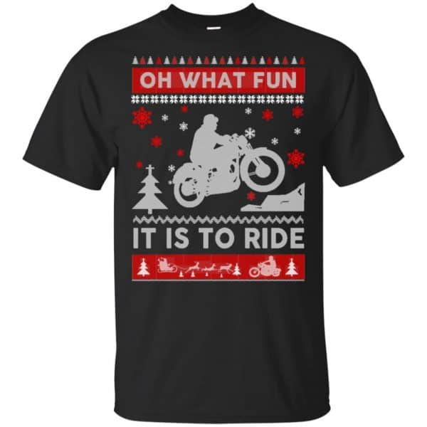 Motorcycle Sweater Christmas Oh What Fun It Is To Ride T-Shirts, Hoodie, Sweater Apparel 3