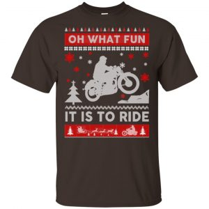 Motorcycle Sweater Christmas Oh What Fun It Is To Ride T-Shirts, Hoodie, Sweater Apparel 2