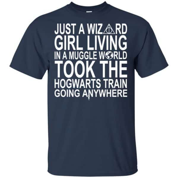 Harry Potter: Just A Wizard Girl Living In A Muggle World Took The Hogwarts Train Going Anywhere T-Shirts, Hoodie, Tank Apparel 6