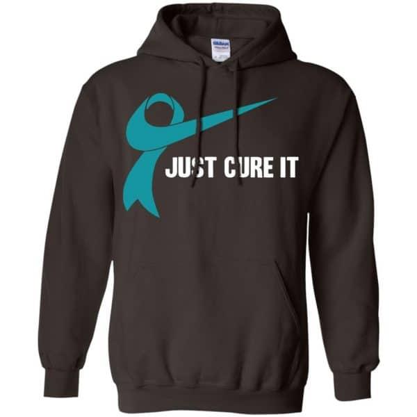 Just Cure It Teal Awareness Ribbon T-Shirts, Hoodie, Tank Apparel 9