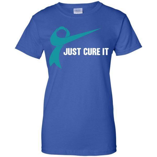 Just Cure It Teal Awareness Ribbon T-Shirts, Hoodie, Tank Apparel 14