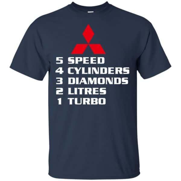 5 Speed 4 Cylinders 3 Diamonds 2 Litres 1 Turbo Mitsubishi Shirt, Hoodie, Tank Apparel