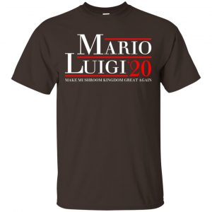 Mario Luigi 2020 Make Mushroom Kingdom Great Again T-Shirts, Hoodie, Tank