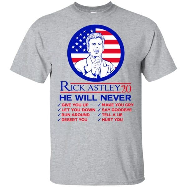 Rick Astley 2020 He Will Never T-Shirts, Hoodie, Tank Apparel 3