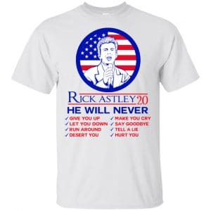 Rick Astley 2020 He Will Never T-Shirts, Hoodie, Tank Apparel