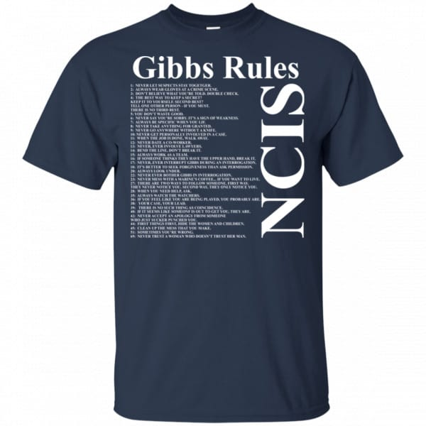 NCIS Gibbs Rules Shirt, Hoodie, Tank Apparel 6