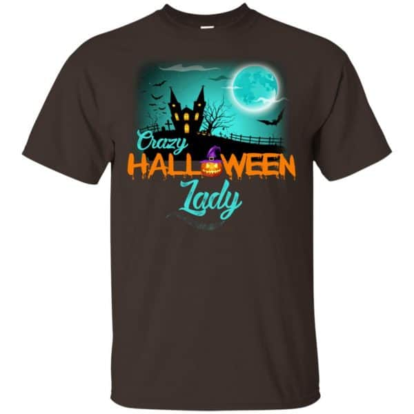 Crazy Halloween Lady Shirt, Hoodie, Racerback Apparel 4