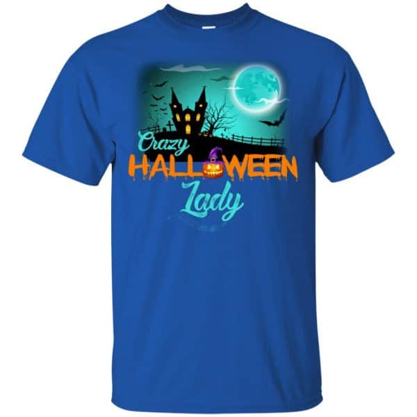 Crazy Halloween Lady Shirt, Hoodie, Racerback Apparel 5