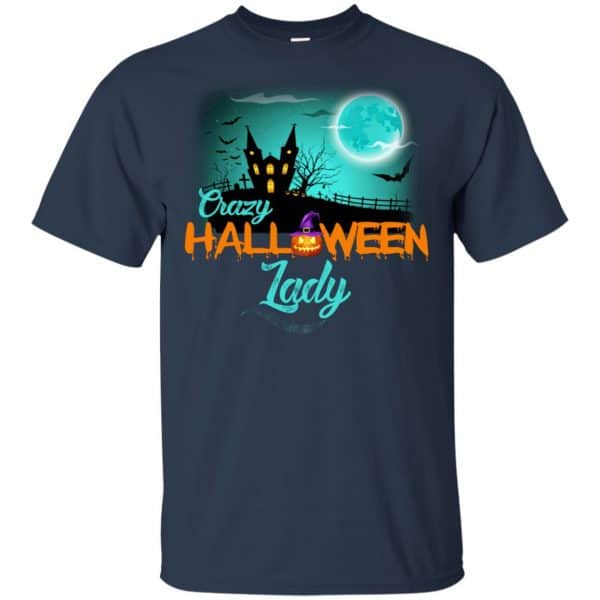 Crazy Halloween Lady Shirt, Hoodie, Racerback Apparel 6
